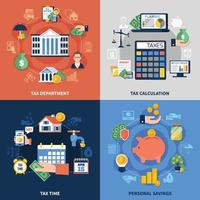 concetto di progettazione fiscale vettore