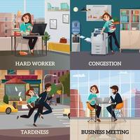 multitasking 2x2 design concept illustrazione vettoriale