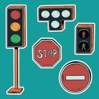 una serie di semafori. vettore