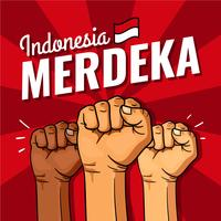 Giorno dell'indipendenza dell'Indonesia Merdeka vettore