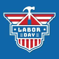 Distintivo del Labor Day USA vettore
