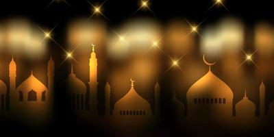 Ramadan Kareem banner design vettore