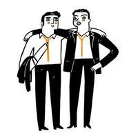 illustrazione di un uomo d'affari basato sul team vettore