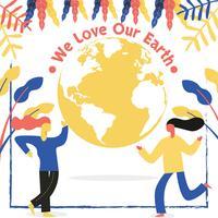 Disegno vettoriale di Earth Day