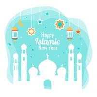 Vettore islamico di nuovo anno