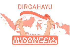 illustrazione vettoriale indonesia prid
