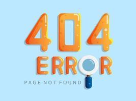 Pagina di errore 404 non trovata vettore
