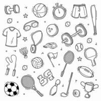 illustrazione vettoriale disegnato a mano di doodle di sport