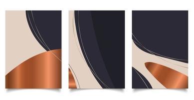 set di modelli di sfondo brochure con estetica astratta organica vettore