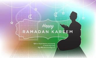 felice celebrazione del ramadan kareem vettore