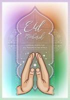felice celebrazione di eid mubarak vettore