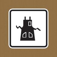 simbolo grembiule indossare isolare su sfondo bianco, illustrazione vettoriale eps.10