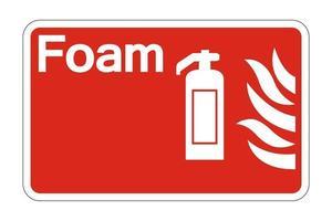 schiuma simbolo di sicurezza antincendio segno su sfondo bianco, illustrazione vettoriale