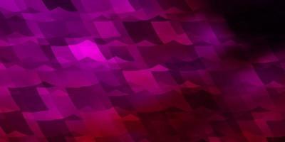 sfondo vettoriale rosa scuro con esagoni.
