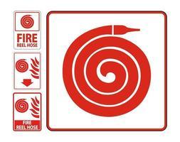 bobina antincendio segno pavimento tubo isolare su sfondo bianco, illustrazione vettoriale eps.10