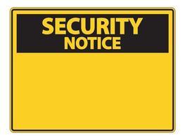 etichetta del segno di avviso di sicurezza simbolo su sfondo bianco vettore