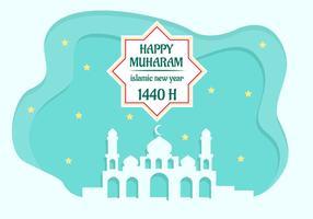 Priorità bassa di vettore di nuovo anno islamico