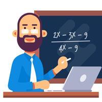 Illustrazione di insegnante di matematica vettore