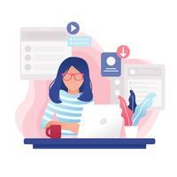 Vettore femminile dello sviluppatore