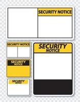 etichetta del segno di avviso di sicurezza simbolo su sfondo trasparente vettore