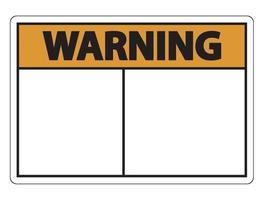 simbolo di avvertenza segno etichetta su sfondo bianco vettore