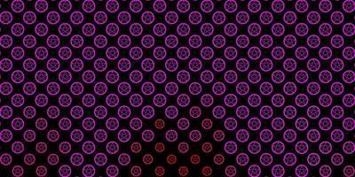 modello vettoriale rosa scuro con segni esoterici.