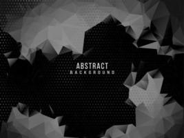 scuro geometrico nero astratto sfondo elegante design pattern vettore