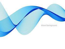 fondo decorativo di progettazione astratta dell'onda blu vettore