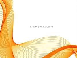 design decorativo moderno con elegante sfondo liscio onda gialla vettore