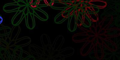 trama vettoriale rosa scuro, verde con forme di memphis.