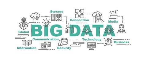 banner vettoriale di grandi quantità di dati