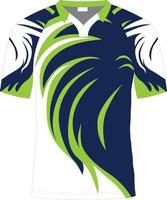 maglie da rugby sublimate mock up vettore