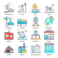elementi di automazione industriale vettore