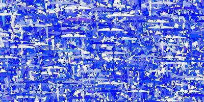 sfondo vettoriale azzurro con triangoli.
