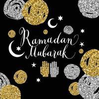felice illustrazione di ramadan con celebrazione simbolo del ramadan. vettore