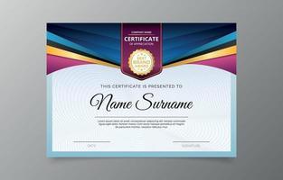 modello di certificato di laurea vettore