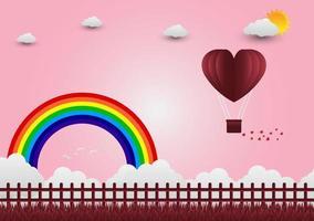 illustrazione di amore e San Valentino, in piedi mano nella mano, mostrando amore gli uni agli altri. vettore