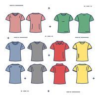 Modello di maglietta vettore