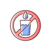 non potabile icona colore rgb acqua vettore