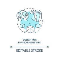 design per icona del concetto di ambiente vettore