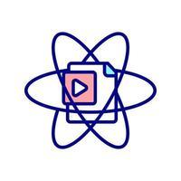 icona di colore rgb della pagina del sito Web dinamico vettore