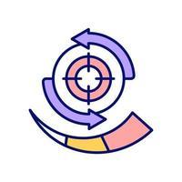 icona del colore rgb di targeting migliorata vettore