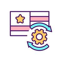 icona del colore RGB della lingua preferita vettore