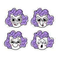 Collezione Face Emoji di Cute Girl