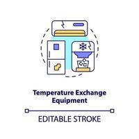 icona del concetto di apparecchiature di scambio di temperatura vettore