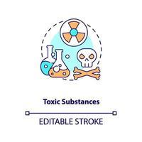 icona del concetto di sostanze tossiche vettore