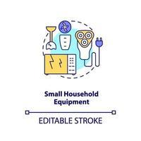 piccola icona del concetto di apparecchiature per la casa vettore