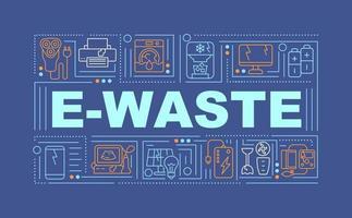 banner di concetti di parola di rifiuti elettronici vettore