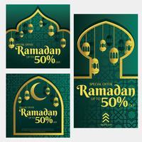 pacchetto di vettore modello di vendita di instagram ramadan