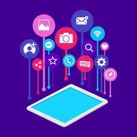 Icone social media vettore